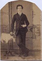 Jeune Uomo Nel L Officina Francia Carte de visite Vintage Albumina Ca 1865
