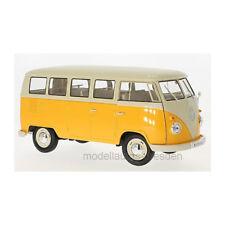 Welly 79350 VW T1 Bus Amarillo Oscuro / Beige 1963 Escala 1:18 Coche a ¡Nuevo! °