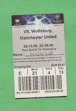Orig.Ticket   Champions League  2009/10  VfL WOLFSBURG - MANCHESTER UNITED  !!