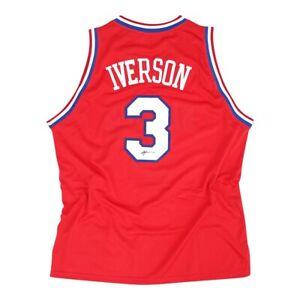Allen Iverson signed Philadelphia 76ers Adidas Red Soul Swingman Jersey JSA