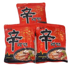 Shin Ramyun Nongshim   Instant Noodle  Gourmet Spicy Hot Beef Soup   (3 pcs)