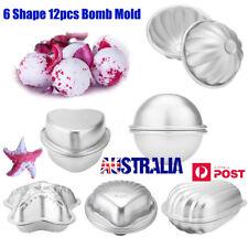 Hot 6 Shape 12pcs Metal Aluminum Bath Bomb Molds Moulds DIY Homemade Crafting LG