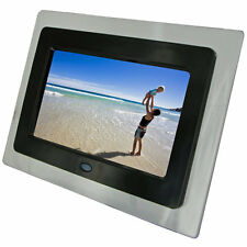 "NEW KITVISION 7"" DIGITAL PHOTO FRAME BUILT IN STAND SD MMC MS MEMORY CARDS BLACK"