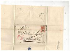 1872 Gutierrez y Del Rio Mexico Cover to Puebla Dr Antonio Lopez