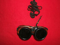Vintage Steampunk AO Safety Welding, Motorcycle Goggles