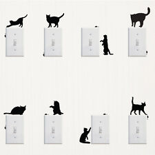 Removable Black Creative Cat Mouse Switch Art PVC Wall Sticker Decal Decor Paper