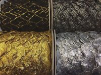Metallic Gold Silver Black Jumbo Ric Rac Braid
