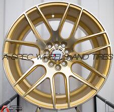 17X9 F1R F18 WHEEL 5x100/114.3 +25MM MACHINE GOLD RIM FITS SCION TC 2005-2010