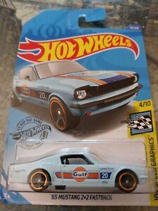 2020 Hot Wheels ''65 MUSTANG 2+2 FASTBACK 116/250 GULF Oil Racing Blue