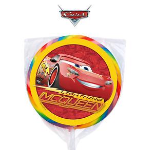 "24 Disney Cars Lightning McQueen 1.67"" Sticker Labels for Bag Party Favor"