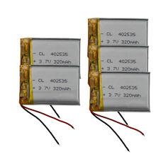 5pcs 3.7V 320 mAh Polymer Li battery For GPS Mp4 DVD Camera PDA Tablet PC 402535