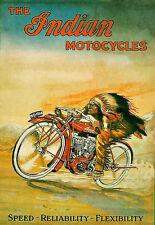 Indian Motociclismo Motor Bicicleta Motocicleta cartel impresión