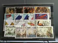 S.Tome E Principe mixed inc paintings and birds   stamps R25263
