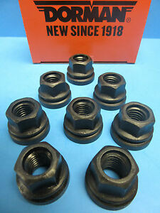 8 Wheel Lug Nut W. Washer Replace Ford OEM# 611-196 M14-2.0 Flanged Flat Face