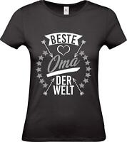 Shirtstown Lady T-Shirt, beste Oma der Welt, Familie