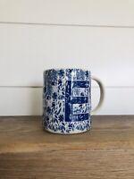 Anthropologie Folksong Monogram Mug Coffee Cup New Letter E Stoneware Alphabet