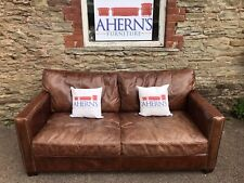 Brown Leather Timothy Oulton Viscount William Sofa By Halo FREE DELIVERY 🚚