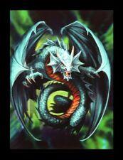 Imagen 3d-bild Anne Stokes Dragón - Jade Emerald Dragon - FANTASY Impresión