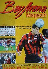 Programm 2000/01 Bayer 04 Leverkusen - 1. FC Köln