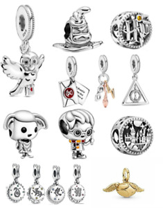 Harry Potter Bracelet Charms - Dobby, Snitch, Sorting Hat, Hogwarts,Ron and more