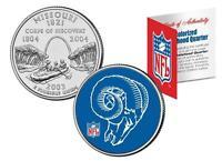 ST. LOUIS RAMS * Licensed * NFL MISSOURI US State Quarter Coin * RETRO * w/COA