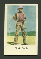 Clark Gable with Rope Lasso The Misfits Vintage Movie Film Star Card from Sweden