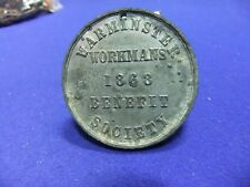 medal medallion warminster workmens benefit society 1868 united we stand union