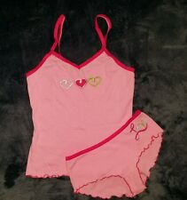Embroidered Camisole & boyshorts panty set, No Boundaries, size Medium (7/9)