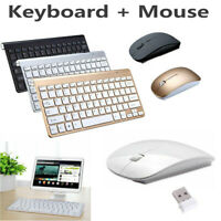 Wireless Keyboard W/ Mouse Combo Set 2.4G For Apple Mac PC Laptop Computer Slim