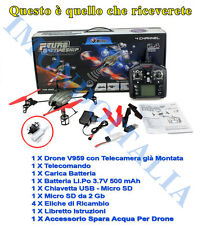 QUADRICOTTERO DRONE  2.4 Ghz  WLTOYS V959 ++ TELECAMERA  + OMAGGIO SPARA ACQUA
