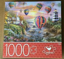 Balloons Over Cottage Cove Jigsaw Puzzle 1000pcs  NEW