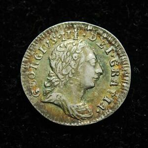 George III silver maundy penny 1d 1776