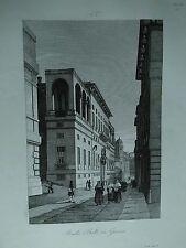 1845 Zuccagni-Orlandini Veduta della Strada dei Balbi in Genova