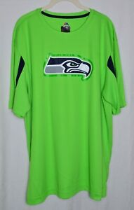 Majestic NFL Team Apparel Seattle Seahawks T-shirt Jersey Green/Black XL New