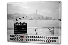 Dauer Wand Kalender Retro Metropole Butcher Hong Kong China Metall Magnet