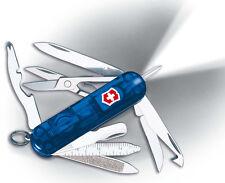 Victorinox Swiss Army Knife w/ LED Light Midnite MinidChamp Sapphire 53979 NEW
