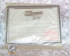 MATTEL REPRO COOL COLLECTING BARBIE DOLL CERTIFICATE OF AUTHENTICITY COA ONLY