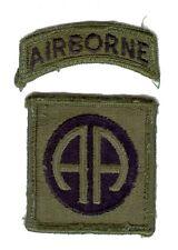 82nd Airborne Division - écusson mle 1966 subdued - tenue de combat - US Army