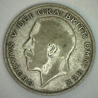 1924 Great Britain Half Crown Silver World Coin Circulated You Grade It