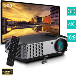 5000 Lumen 4K Home Theater Projector 1080P Native Video Projector HDMI for Phone