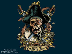 GOONIES One-Eyed Willie's Treasure Trove Goon Docks Astoria NEW TEEFURY T-SHIRT!