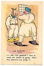 """CPA militaria humoristique - La Visite - """"Ah ! Mon Gaillard !! Vous ne voulez pa"""