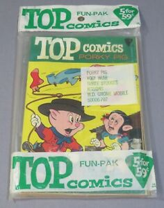 TOP COMICS FUN-PAK (5 Sealed Books) Jetsons 1, Porky Pig 2, KK Publications 1967