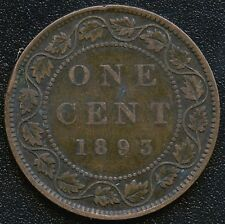 1893 Canada Large Cent Coin