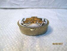"""Petite boite ovale à pilules de collection décorée """" Roma, Castel Sant Angelo """""""