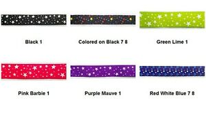 STARS PRINT By the yard Grosgrain Ribbon Trim (You chose color & size)