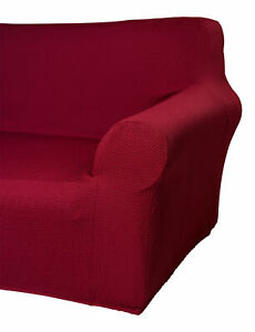 Sofa Protector Easy Stretch Elasticated Furniture Chair Cover Wine 1 2 3 Seater