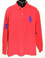 Polo Ralph Lauren Men's Size 1XB Red Long Sleeve Big Pony Polo Shirt