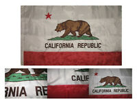 3x5 Embroidered California Double Sided 300D Sewn Nylon Flag Banner