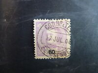 1895 PORTUGAL KING CARLOS I 80r USED STAMP
